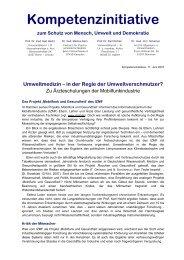 Umweltmedizin - Kompetenzinitiative