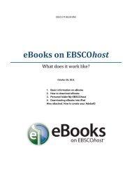 eBooks on EBSCOhost - LSMU