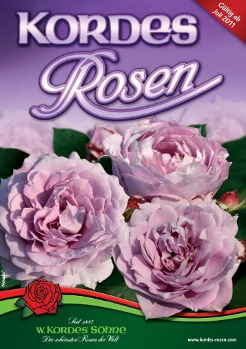 Gültig ab Juli 2011 - Kordes Rosen