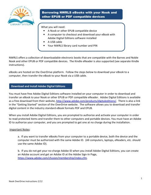 Nook & EPUB OverDrive Instructions - Bay County Public Library