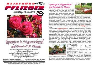 Rosendorf Nöggenschwiel - PFLIEGER Reise