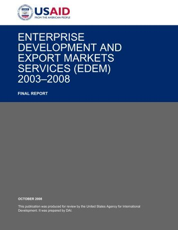 enterprise development and export markets services (edem)