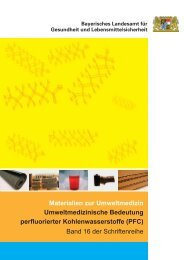 Materialien zur Umweltmedizin Umweltmedizinische Bedeutung ...