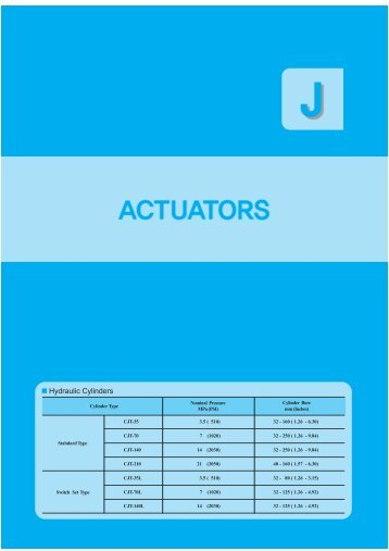 "Page 1 Page 2 Page 3 ACTUATORS ""CJT'l SERIES HYDRAULIC ..."