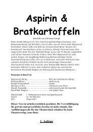 """Aspirin & Bratkartoffeln"" herunterladen. - Theaterverlag Arno Boas"