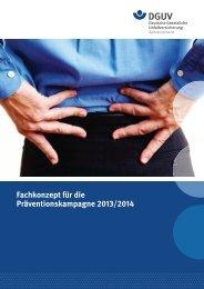 Fachkonzept für die Präventionskampagne 2013/2014