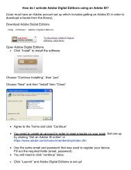 How do I activate Adobe Digital Editions using an Adobe ID…
