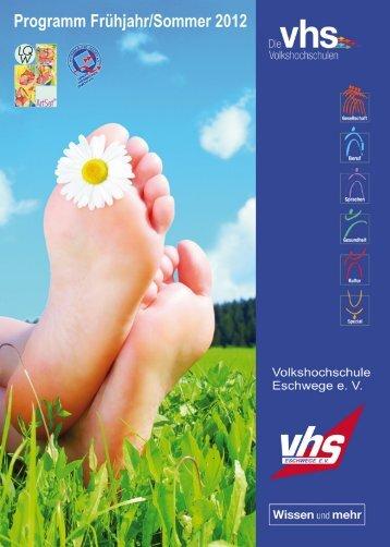 Allgemeine Geschäftsbedingungen - Volkshochschule Eschwege eV