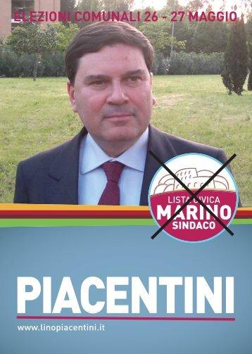 27 MAGGIO AL COMUNE VOTA Lino PIACENTINI