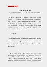"""Il """"Presidente della Regione"""" - Consulta online"""