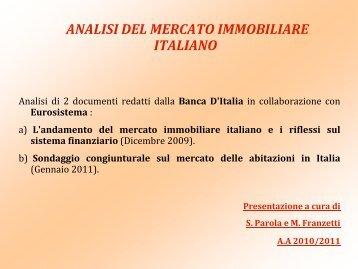 Il Mercato Immobiliare in Italia - Università dell'Insubria