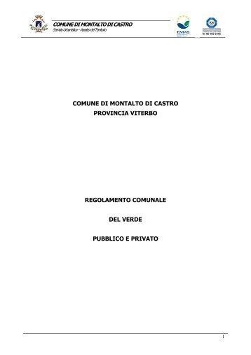 Regolamento del verde pubblico e privato - Comune di Montalto di ...
