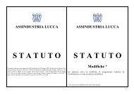ASSINDUSTRIA LUCCA STATUTO Modifiche - Associazione degli ...
