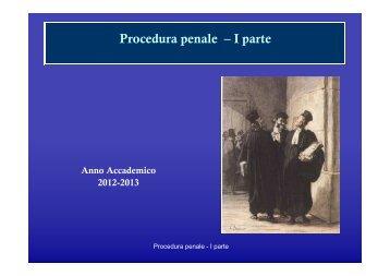 Procedura penale- soggetti - Giurisprudenza
