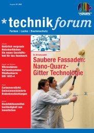 Saubere Fassaden: Nano-Quarz- Gitter Technologie Saubere Fassaden ...