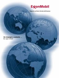 Rapporto sul Ruolo Sociale dell'Impresa - ExxonMobil
