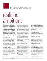 December 2006 affiliates