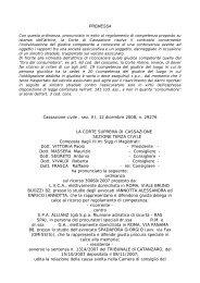 Cass. Civ. ord. n. 29276/2008