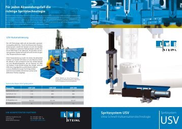Spritzsystem USV - LWB Steinl GmbH & Co. KG