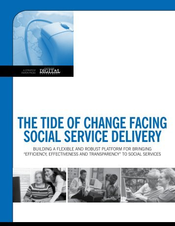 the tide of change facing social service delivery - Center for Digital ...