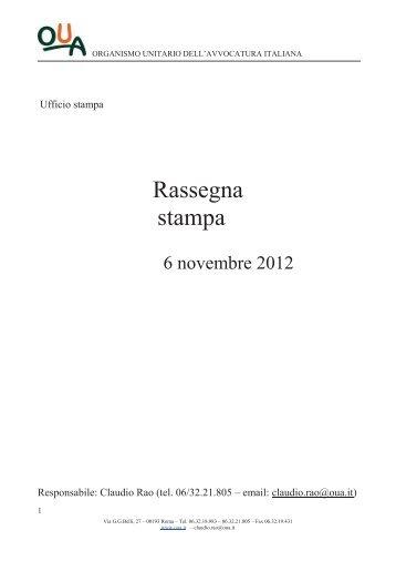 Rassegna Stampa - Organismo Unitario dell'Avvocatura Italiana