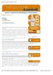 Finanza Locale e Controlli n. 23_09.pdf - Edk Editore Srl