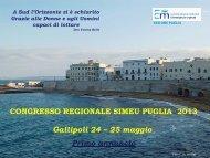 CONGRESSO REGIONALE SIMEU PUGLIA ... - Promoter in eventi