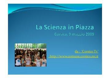 Scienza in piazza - Giochi matematici 2009 - Quaderno a quadretti