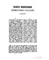 Nuovo dizionario piemontese-italiano ragionato e ... - Piemunteis.it