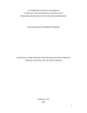 Dissertação completa - Programa de Pós-Graduação em Letras