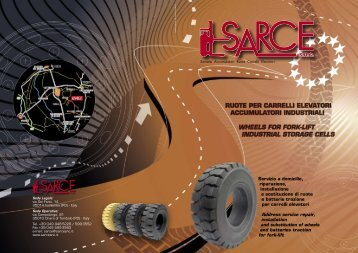 ruote per carrelli elevatori accumulatori industriali ... - SARCE snc