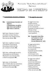 Canti avvento per ragazzi - Santa Maria delle Grazie Squinzano