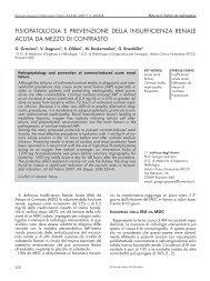 Fisiopatologia e prevenzione della insufficienza renale acuta da ...