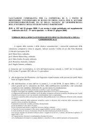 Verbale riunione preliminare - Università degli Studi di Napoli ...