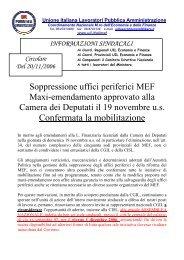 Circolare informativa della UILPA - MEF