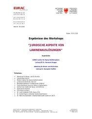Ergebissprotokoll der EURAC (PDF-Datei, 86 KB) - Alpenverein ...