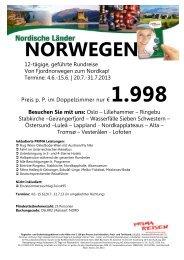 12 Tage geführte Rundreise Norwegen Juni & Juli ... - Komet-Reisen