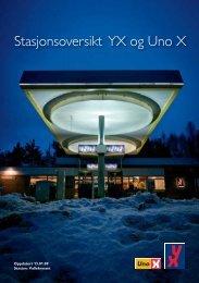 Stasjonsoversikt YX og Uno X