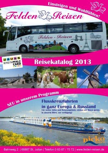 """Reiseprogramm 2013"" (PDF-Datei) - Felden Reisen"