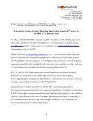 Semaphore releases Security Industry Association Standard ...