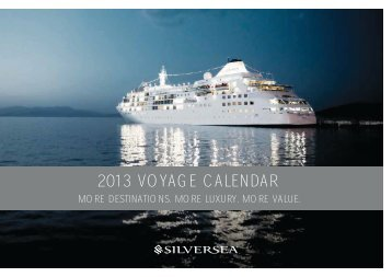 2013 VOYAGE CALENDAR - Bella Vista Travel