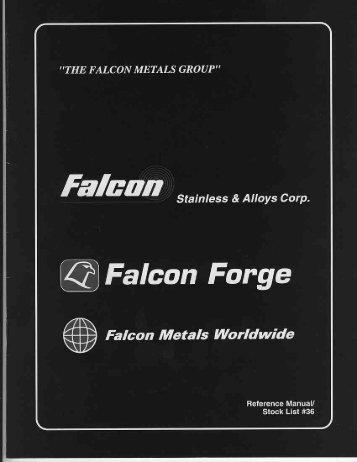 our catalog - Falcon Metal