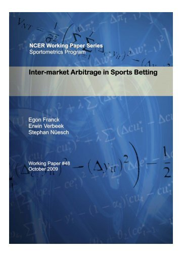 Inter-market Arbitrage in Sports Betting - National Centre for ...