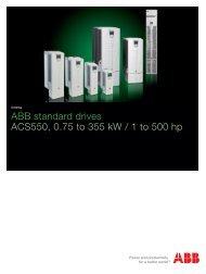 ACS550 series brochure - ACP & D, Ltd.