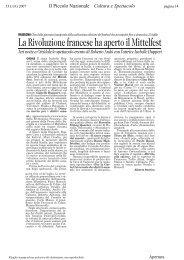 La Rivoluzione francese ha aperto il Mittelfest - Rassegna Stampa ...