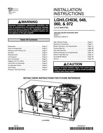 Lennox hs26 manual