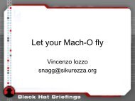 Let your Mach-O fly - Zynamics