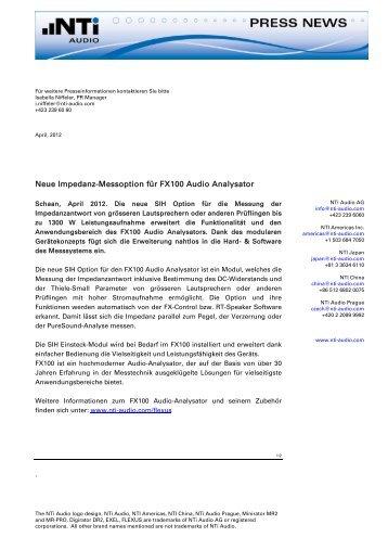 Neue Impedanz-Messoption f