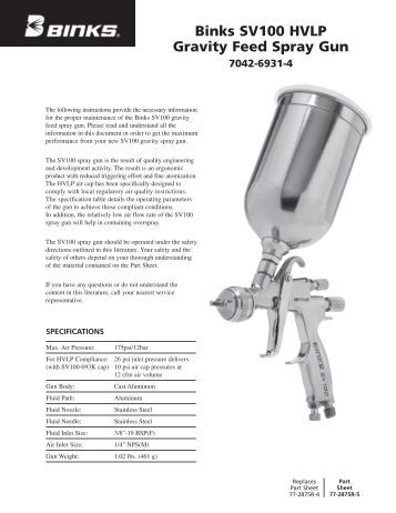 310583d Sharpe T1 Titanium Hvlp Pressure Feed Spray Gun
