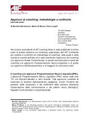 LearningNews Approcci al coaching: metodologie a confronto - AIF